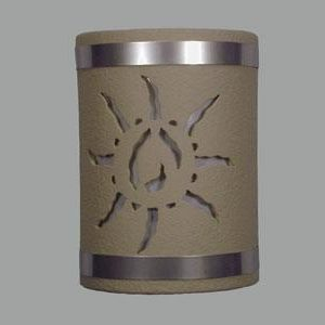 Open Top-Ancient Sun Design w/Stainless Steel Bands-Taupe color-Indoor/Outdoor