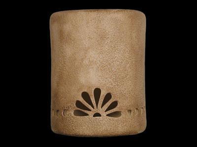 "9"" Open Top - Fan w/Bullets Border Design, in Sand Wash color - Indoor/Outdoor"
