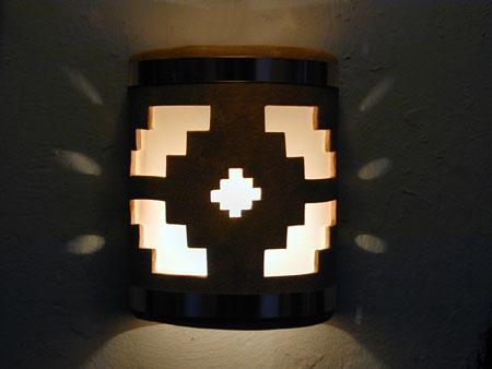 """9"""" Open Top - Ventana Design w/Copper Metal Bands, in Sand Wash color - Indoor/Outdoor"""