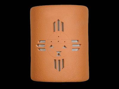"""9"""" Open Top - Kachina Design, in Terracotta color - Indoor/Outdoor"""
