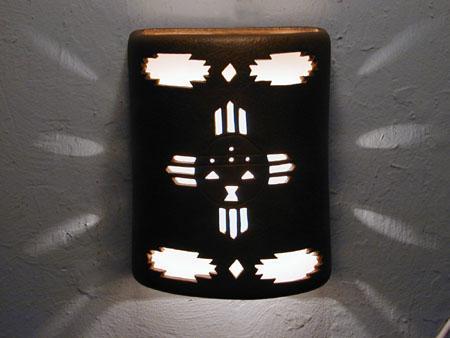 """9"""" Open Top - Kachina Design  w/Aztec Border Design, in Antique Copper color - Indoor/Outdoor"""