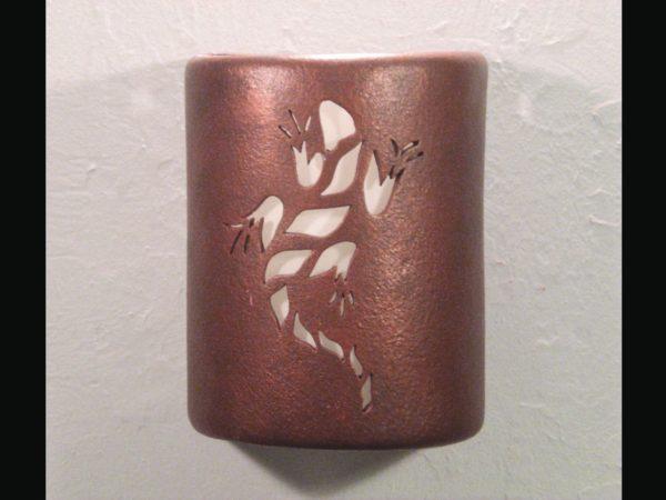"""9"""" Open Top - Lizard Design in Antique Copper color - Indoor/Outdoor"""