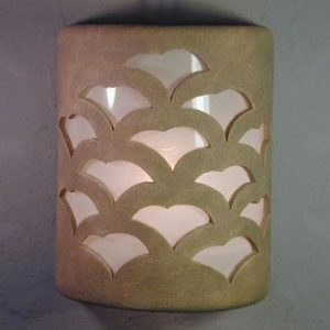 Open Top-Gingko Design-Taupe Wash color-Indoor/Outdoor
