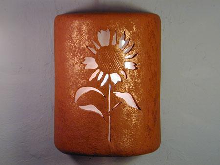 Open Top-Sunflower Design-Red Mica color-Indoor/Outdoor