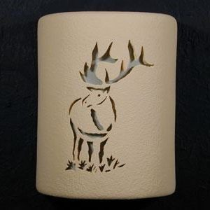 "9"" Open Top - Elk Design in Tan color - Indoor/Outdoor"