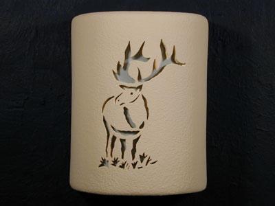 """9"""" Open Top - Elk Design in Tan color - Indoor/Outdoor"""