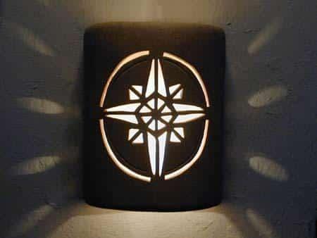 Open Top-Compass Star Design-Parchment color-Indoor/Outdoor
