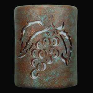 Open Top-Grapes Design-Copper Patina color-Indoor/Outdoor-9""