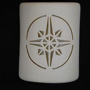 Open Top-Compass Star Design-White color-Indoor/Outdoor