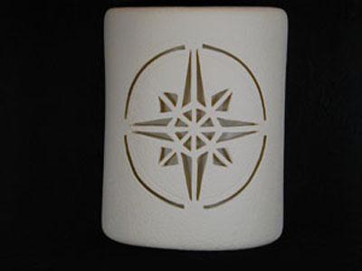 Open Top-Compass Star Design-White color-Indoor/Outdoor