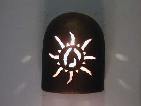 """9"""" Hood (Dark Sky) - Ancient Sun Design in Antique Copper color - Indoor/Outdoor"""