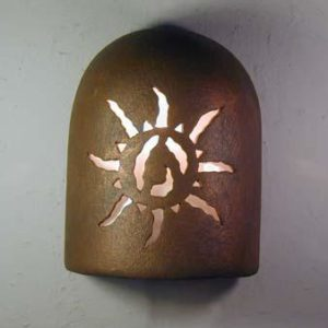 "9"" Hood (Dark Sky) - Ancient Sun Design in Antique Copper color - Indoor/Outdoor"