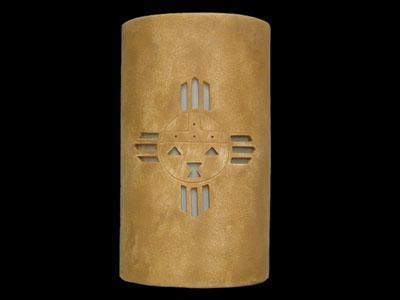 """14"""" Open Top - Kachina Design, in Sand Wash color - Indoor/Outdoor"""