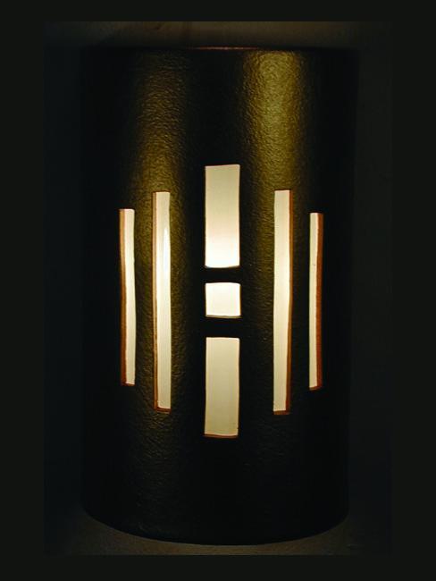 Center Window Design-Copper Metal Bands-Anodized Bronze color-Indoor/Outdoor-Open Top