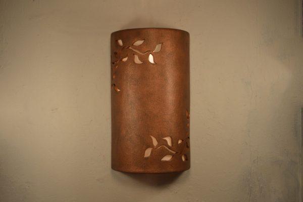 """14"""" Open Top - Ivy Design, in Antique Copper Color - Indoor/Outdoor"""