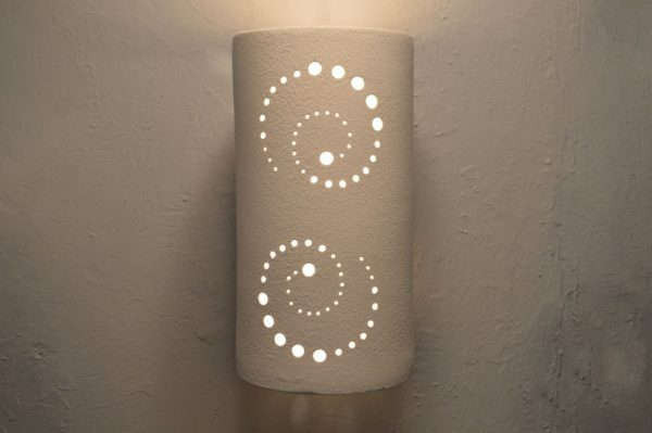 Architectural-Accent-Custom-USA Made-Wall Sconce-Light-White-Modern-Indoor-Outdoor-Open Top