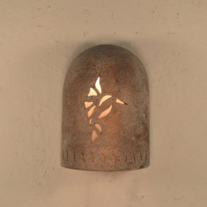 "8"" Hood (Dark Sky) Wall Sconce w/Hummingbird and Wind designs, in Copper Wash color - Indoor/Outdoor"