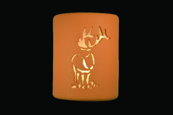 "9"" Open Top - Elk Design, in Terracotta color - Indoor/Outdoor"