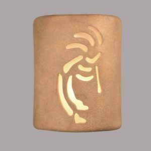 "9"" Open Top - Kokopelli in Sandstone color - Indoor/Outdoor"