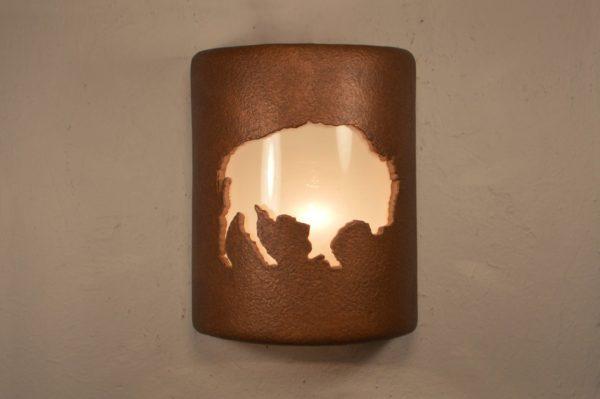 9' Open Top - Buffalo Design, in Antique Copper Color - Indoor/Outdoor