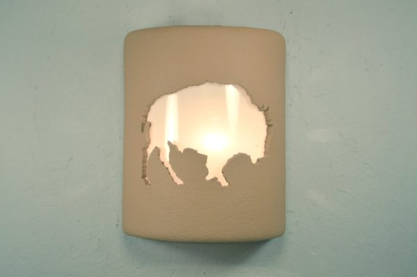 "9"" Open Top - Buffalo Design, in Solid Brown Color - Indoor/Outdoor"