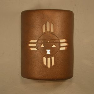 """9"""" Open Top - Kachina Design, in Antique Copper color - Indoor/Outdoor"""