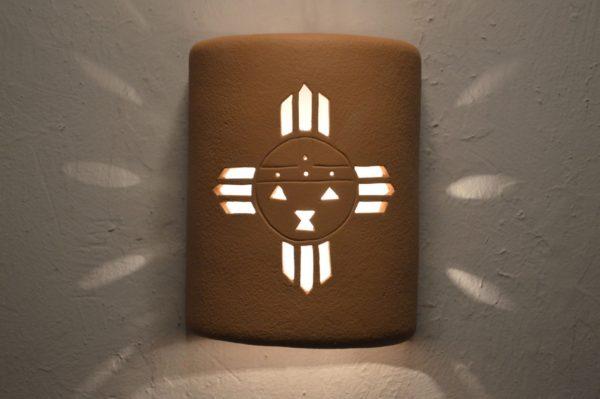 """9"""" Open Top - Kachina Design, in Solid Brown Color - Indoor/Outdoor"""