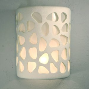 Open Top Pebbles design in White for the Indoor/Outdoor