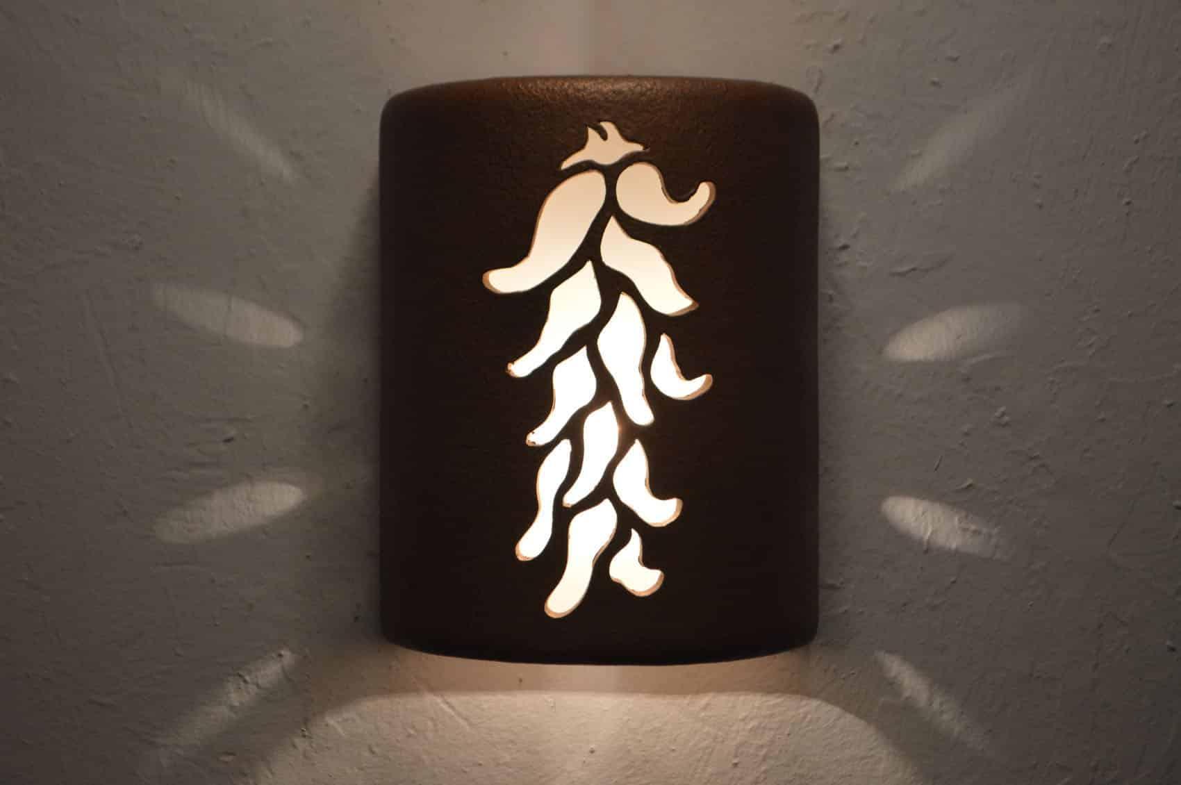 "9"" Open Top - Ristra Design, in Antique Copper Color - Indoor/Outdoor"