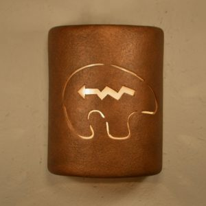 "9"" Open Top - Southwest Spirit Bear Design, in Antique Copper Color - Indoor/Outdoor"