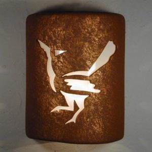 "9"" Open Top - Roadrunner Design in Rust Mica color - Indoor/Outdoor"