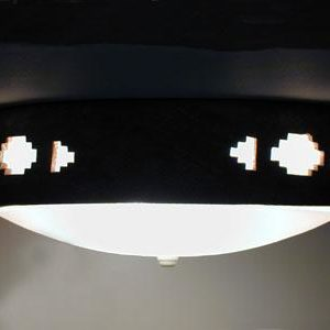 Flush Mount Ceiling Fixture with a Southwest Side Steps Design, in a Sand Wash color