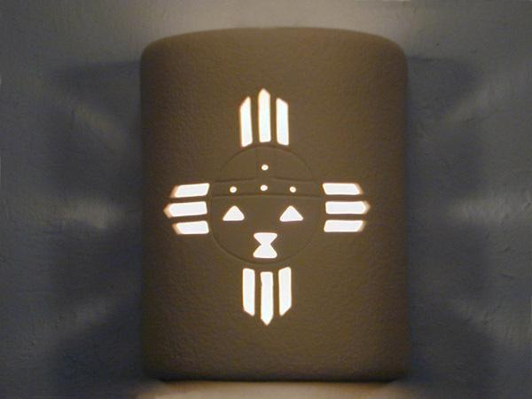 """9"""" Open Top - Kachina Design, in Tan color - Indoor/Outdoor"""