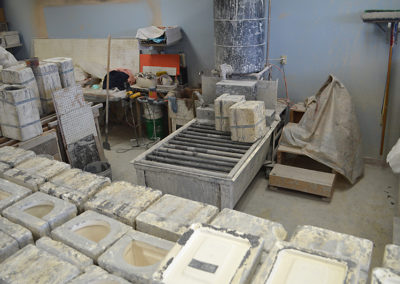 Molds & Pouring Area