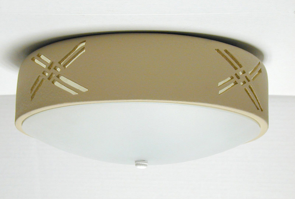Weavings-Tan-Ceiling Flush Mount Light