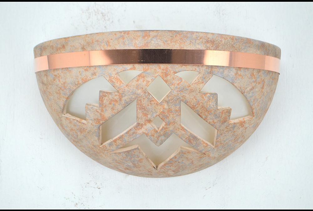 Shards – Sandstone – Indoor – Covered Outdoor – Large Bowl Up Light Half Round