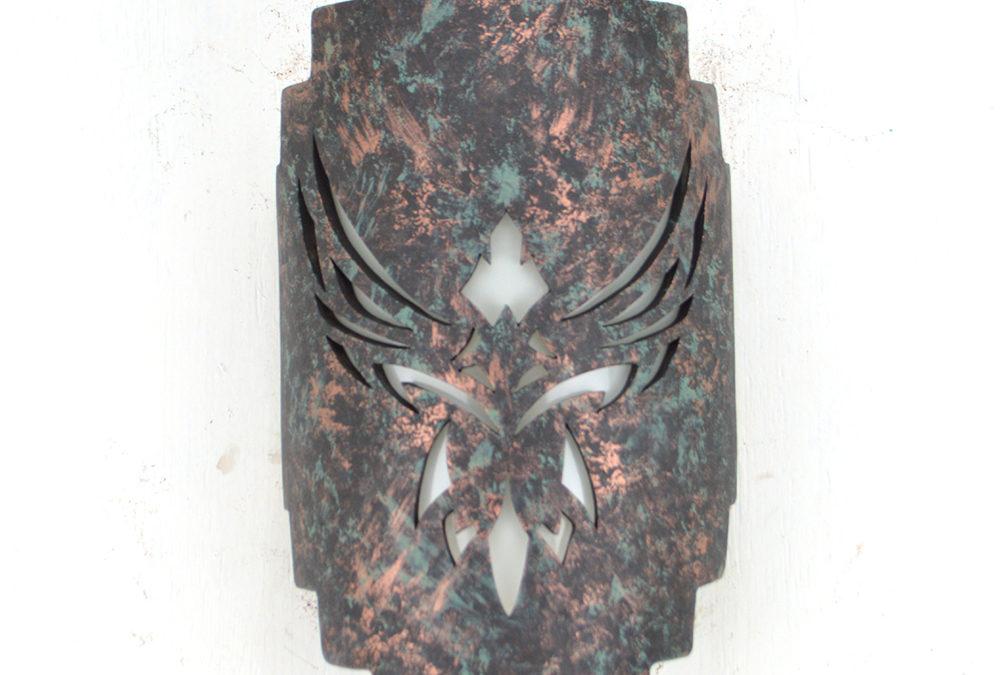 Phoenix-Copper Agate-Indoor-Outdoor-Stairstep Handcut-Eagle