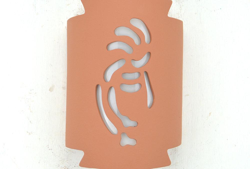Kokopelli-Terracotta-Indoor-Outdoor-Zig Zag Handcut